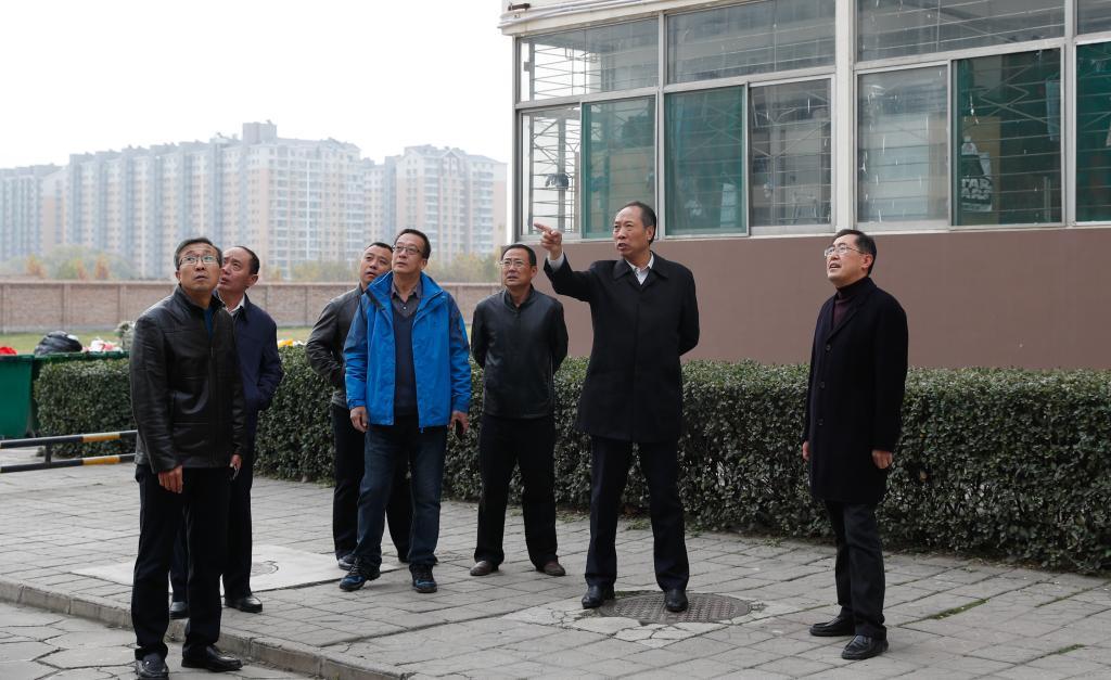"""党委书记常乃军在坞城校区对""""大后勤""""系统工作情况进行调研"""