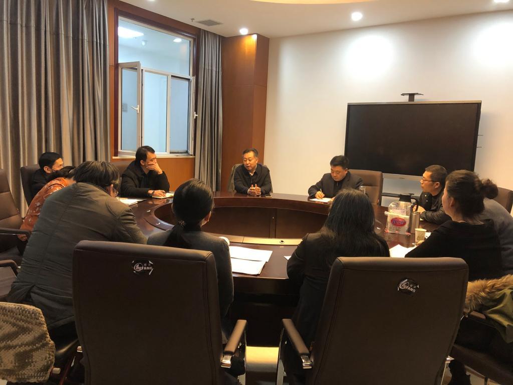副校长卢庆山到财务处调研指导工作